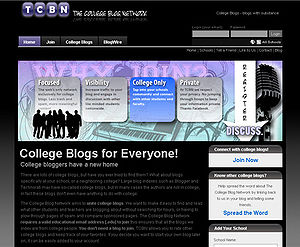 The College Blog Network Screenshot. THIS IS N...