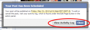How to: schedule posts for you Facebook page.