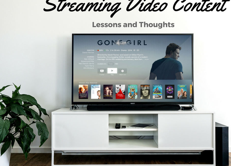Netflix Streaming Video Lessons and Thoughts